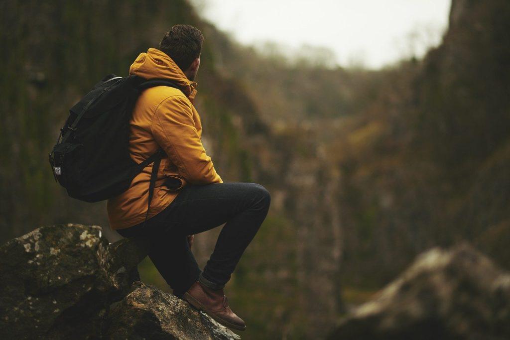 adventure, man, mountain