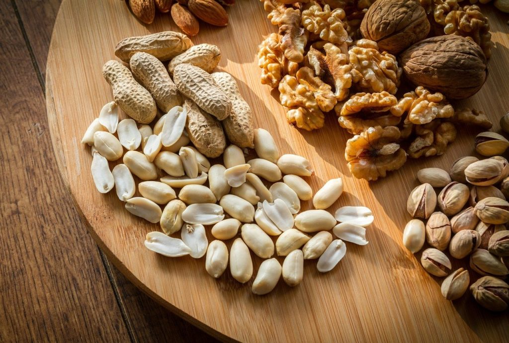 mixed, nuts, selection