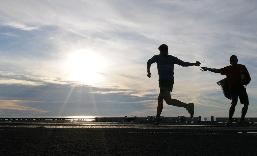 runner, jogging, morning