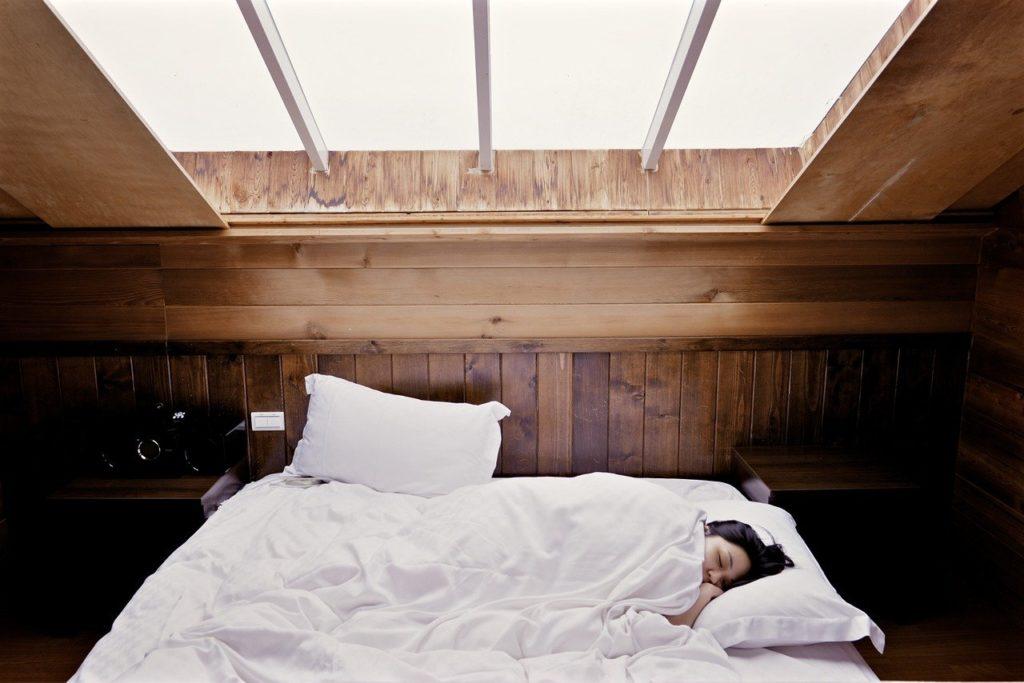 sleep, bed, woman